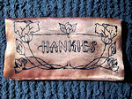 vintage art nouveau hanky bag or folder