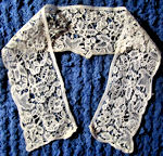 antique dress collar handmade needle lace