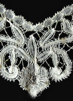 vintage  antique handmade bobbin lace collar