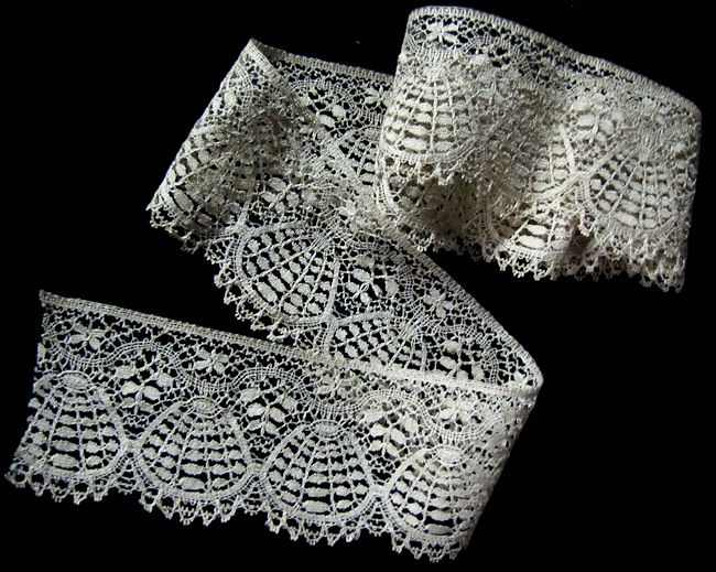 vintage antique cluny lace trim