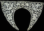 vintage handmade filet lace collar