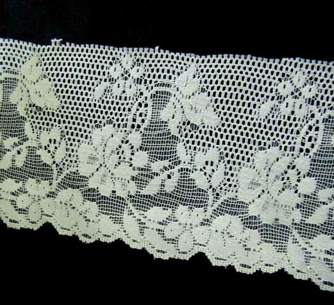 close up vintage French lace trim