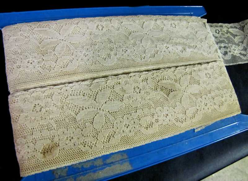 close up vintage antique French lace trim
