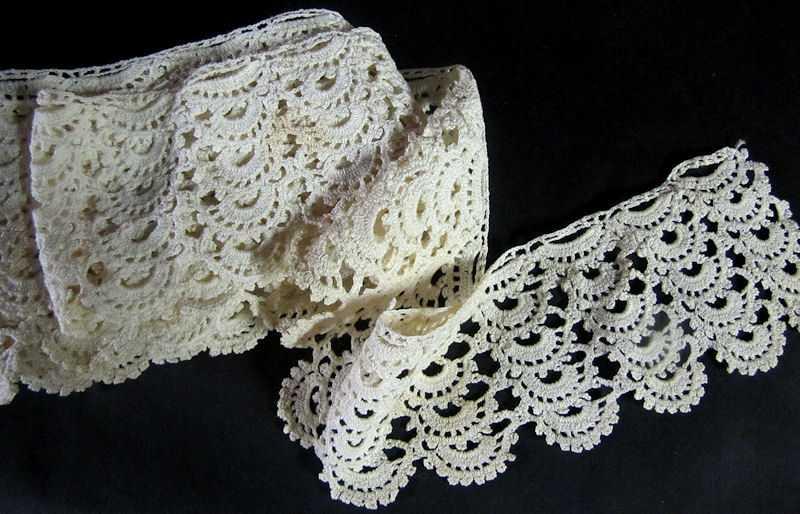 vintage antique handmade lace trim