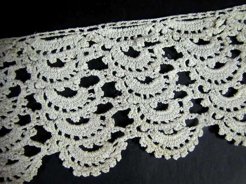 close up 2 vintage antique handmade lace trim