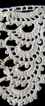 vintage antique lace trim handmade crochet