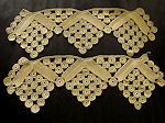 pair vintage handmade lace trim ends
