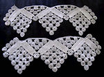pair vintage handmade lace ends trim