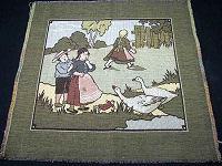vintage antique tapestry children