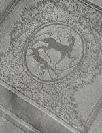 vintage figural damask napkins gazelles
