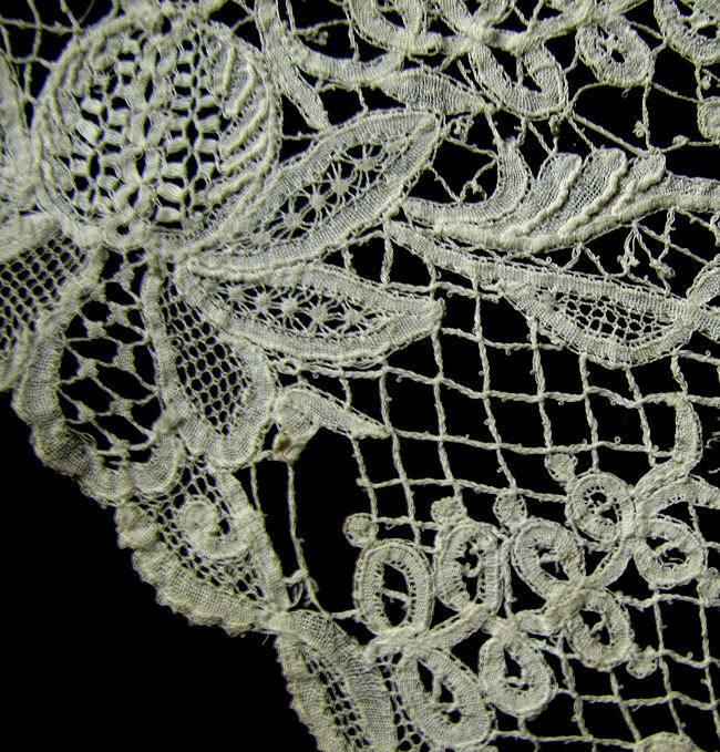 broken connector thread antique handmade lace trim