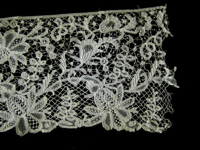 rough cut ends antique handmade branscombe lace trim