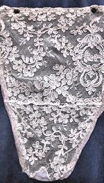 vintage antique victorian alencon lace modesty panel