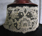 victorian antique carrickmacross lace collar