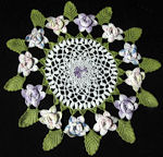 vintage handmade lace flowers doily