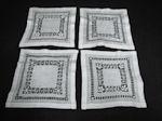 4 vintage napkins handmade lace
