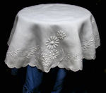 vintage antique table topper handmade lace