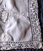 vintage handmade pillow cover handmade figural lace lion