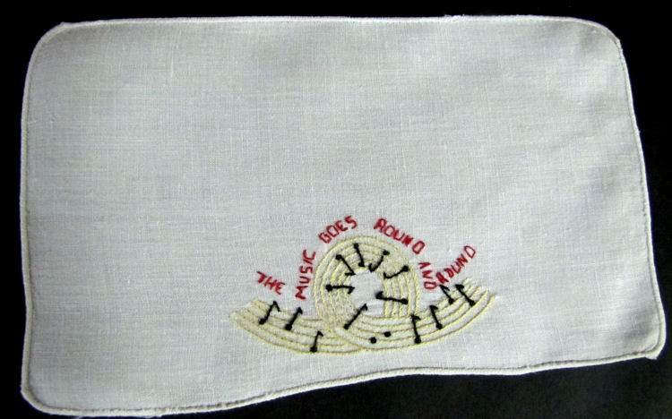vintage antique cocktail napkins with music