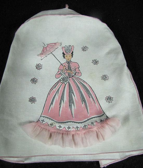 vintage linen pink mixer cover