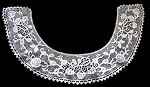 vintage antique handmade Irish lace collar