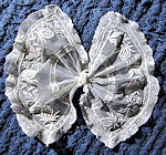 vintage antique bow french and limerick lace