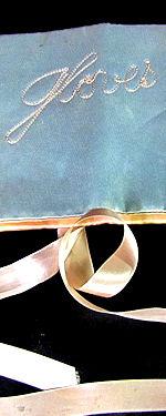 vintage antique gloves bag or folder