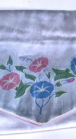 vintage antique  lingerie bag folder with morning glories