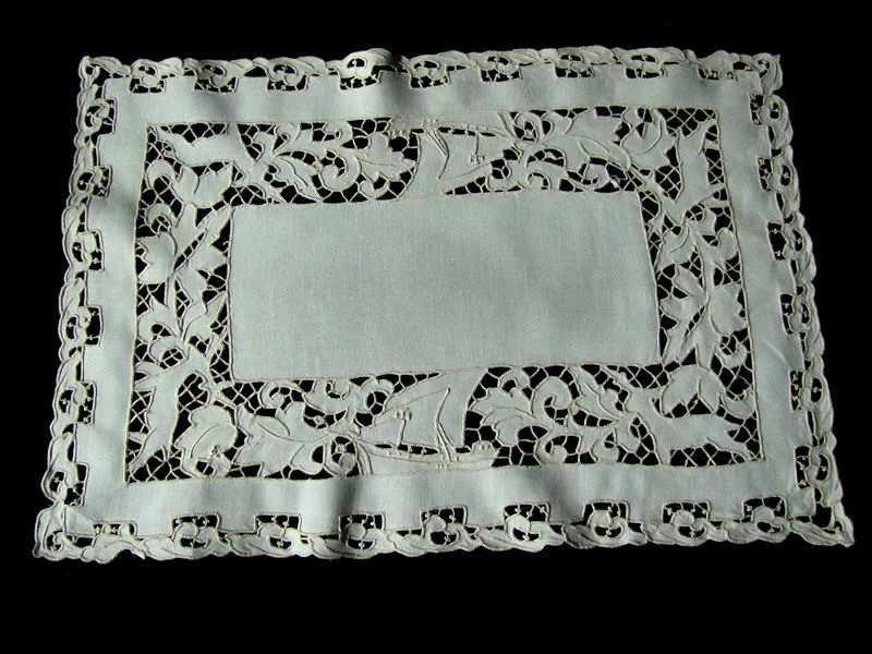 vintage figural lace placemats