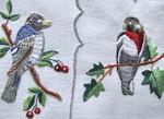 4 vintage linen placemats Porthault birds