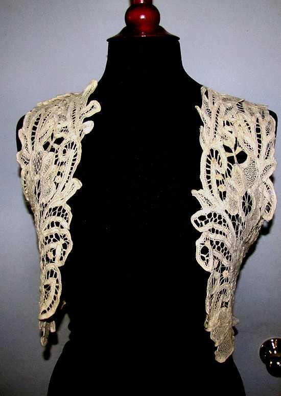 vintage antique handmade lace cape