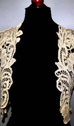vintage antique handmade lace cape