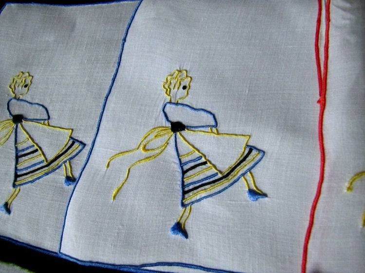 close up vintage cocktail napkins barmaid by Marghab
