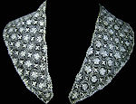 vintage antique handmade needle lace collar