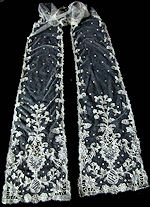 antique carrickmacross lace lappet