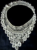vintage antique victorian Brussels lace collar