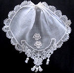 vintage antique linen and lace ruffled jabot