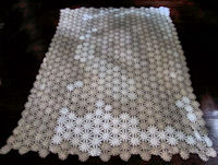 vintage antique handmade crochet lace tablecloth