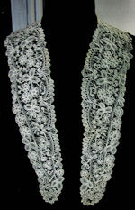 vintage antique victorian handmade brussels lace collar