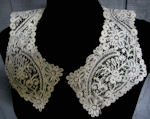vintage antique victorian brussels lace collar handmade