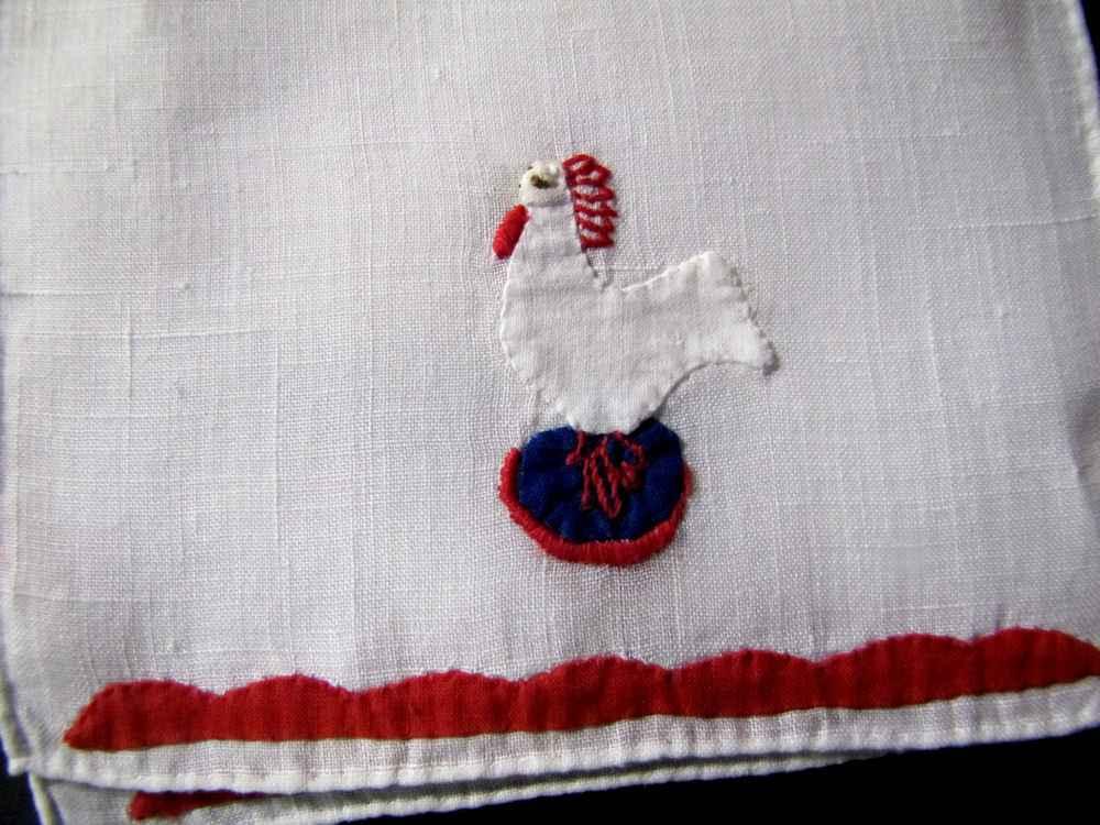 close up vintage antique cocktail napkins
