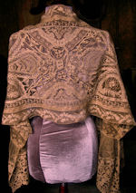 victorian shawl scarf Normandy carrickmacross lace