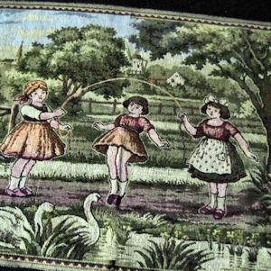 vintage tapestry table runner dresser scarf children