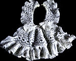 vintage antique collar with jabot French lace