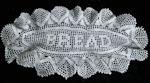 vintage handmade figural lace bread basket doily