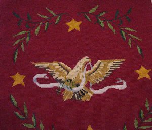 8 vintage needlepoint chair seat covers