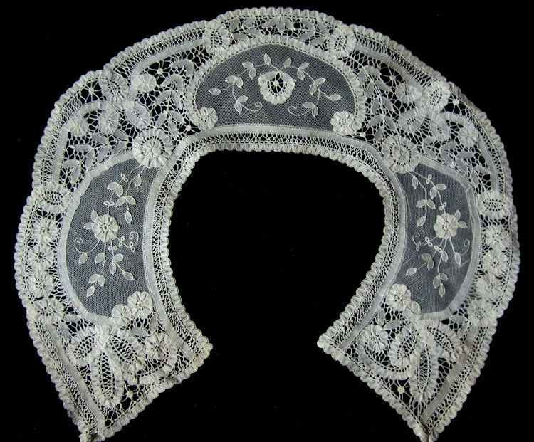 vintage victorian antique Brussels lace collar