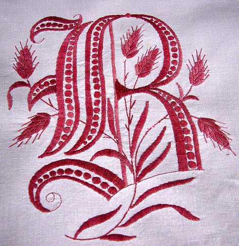 antique pillow shams monogram