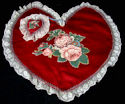vintage heart lingerie bag