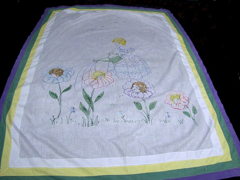 vintage little girl's bedspread